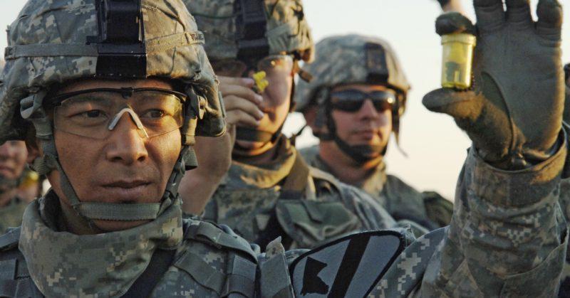 Amerikai katonáknál rendszeresített füldugó