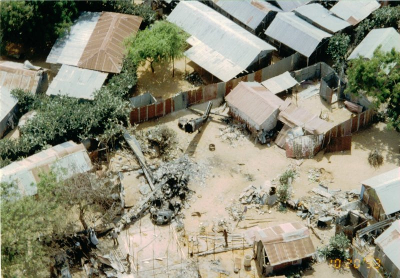 A Mogadishuban lezuhant Black Hawk helikopter