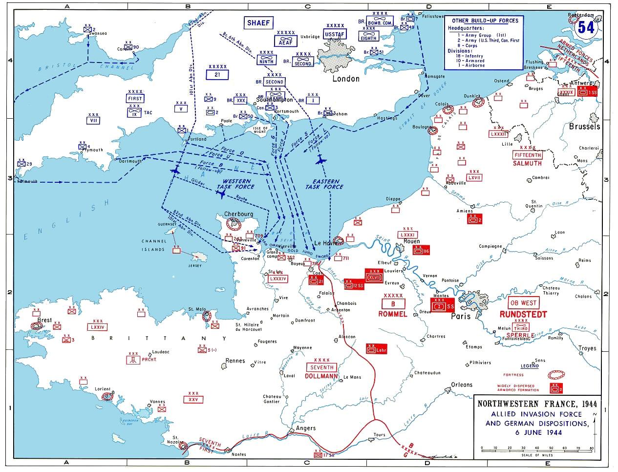 Normandiai invázió térképe